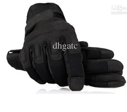 Wholesale NEW Full finger Milit ary Tactical Airsoft Hunting Riding Game GlovesBlack