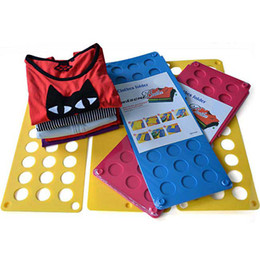 Wholesale Fedex M Size Magic Clothes Laundry Folding Board Folder T shirt Children Kids Organizer Fast speed