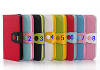 For Apple iPhone Leather  Contrast color Photo Frame Wallet PU Flip leather Case With Credit Card Slots Stand For iphone 5S 5C Samsung Galaxy s5 Mega 6.3 Note 3 case