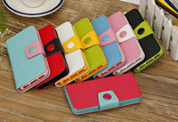 For Apple iPhone Leather  Photo Frame Wallet PU leather stand Case With Credit Card Slots Stand For iphone 5S 5C Samsung Galaxy s5 Mega 6.3 Note 3 case fast shiping