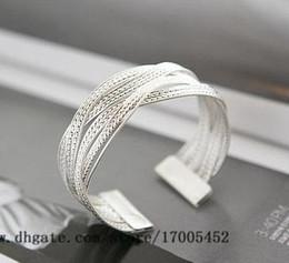 Wholesale Alloy braided twist bracelet double double cross metal bracelet craft wild punk rock bracelet v240 v214