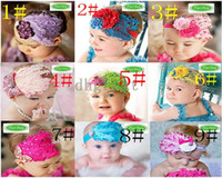 Wholesale hot sell NEW Baby hats girls hat headband barrette headdress flower beanie hair pin clip caps