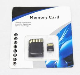 DHL Freeshipping Genuine 16GB Micro SD Card TF Cartão de Memória 4 16GB Flash Micro SD HC Cartões Adaptador Retail Packet MQ50