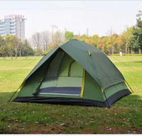 Wholesale TPU Coated T Plaid Outdoor Camping Tent Waterproof mm Travelling Tent Casual Camping Tent Double Layer Travel Tents AUTO Opened Sport