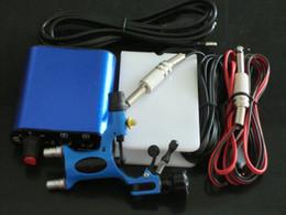 Wholesale Pro blue Tattoo machine gun Kits Rotary Dragonfly Tattoo Gun Machines Equipment with tattoo power supply foot pedal clip cord plug