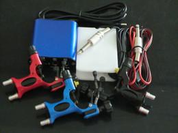 Wholesale Pro Tattoo machine gun Kits Rotary Dragonfly Tattoo Gun Machines Equipment with tattoo power supply foot pedal clip cord plug
