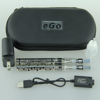 Electronic Cigarette Battery stainless steel Ego-K CE4 Electronic Cigarette Double Kits Ego CE4 Atomizer E Cigarette e cig ecig ecigarette ego starter kit
