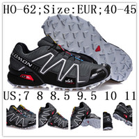 Wholesale New designer all black cheap new arrival XT Speedcross Zapatillas salomon Mens running shoes colors size US7