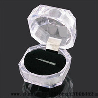 Jewelry Tray acrylic displays cases - Jewelry Package Boxes Ring Holder Earring Display Box Acrylic Transparent Wedding Packaging Storage Box Cases v0262