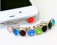 Earphone Jack Plugs beautiful jack - cell phone abti dust gadgets beautiful mm diamond sparking bling anti dust stopper plugy ear caps