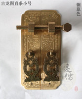Ceramic Furniture Handle & Knob  Chinese style antique furniture fittings pure copper bookcase GuLongTu small cupboard door straight handle