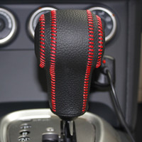 Wholesale Gear Shift Knob Cover For Nissan Qashqai Nissan X Trail Automatic XuJi Car Special Hand stitched Black Genuine Leather Covers