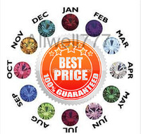 Wholesale mixed mm floating birthstone origami owl floating charms fit for mm floating lockets Jan Dec of each month