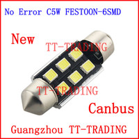 Wholesale NEW No error canbus C5W Festoon Dome Reading Light Bulb mm SMD LED Car license plate light mm mm mm white