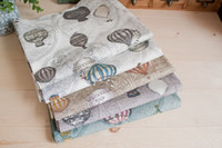 Wholesale Vintage Balloon Linen Cotton Blended Fabric Meter cm x cm