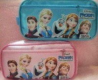 as picture   Hot sale2014 Frozen princess Elsa anna Pencil case Bag Red NEW Children Girl's Cartoon Fashion Pencil Bag Free Shipping
