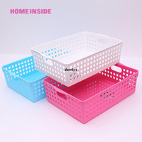 Sundries basket storage cabinets - Japanese style storage basket desktop storage box plastic home storage cabinet dandys