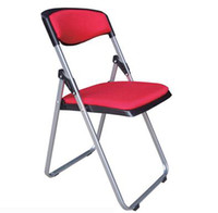 Wholesale Folding chair metal frame PP seat with fabric Soft seat living room restaurant chair