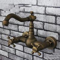 Cheap free shipping brass Antique bathroom basin sink mixer tap faucet single hole torneira tbthroom fb-75