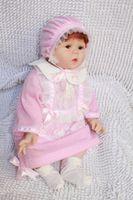 "Unisex Birth-12 months Vinyl Fashion collection 22"" Reborn baby dolls Silicone vinyl doll kits Soft Toys dolls for girls handmade cute doll baby NPK LUCY"