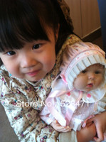 "Unisex Birth-12 months Vinyl 22"" Reborn Baby Dolls Silicone vinyl doll Kits Soft Toys Dolls princess handmade Children's Day gift"