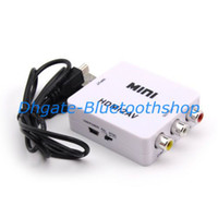 Wholesale New USB Mini HDMI to AV RCA Video Signal CVBS Adapter Converter P P UFS