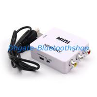 Wholesale New USB Mini HDMI to AV RCA Video Signal CVBS Adapter Converter P P UFS