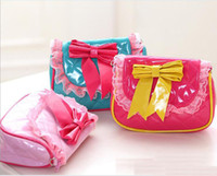 Wholesale Fashion New Bow PU purse handbag little girl princess handbags hand bag purser children bags