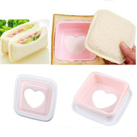 Wholesale Portable Heart Hearted Shape Sandwich Bread Toaster Maker Mold Mould Cutter DIY Tool