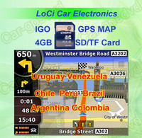 Wholesale The latest GB SD TF card with car IGO Primo GPS Navigator map for Argentina Brazil Chile Colombia Peru