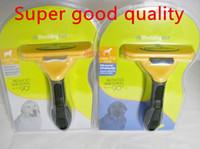 Wholesale 4 inch New Pet brush Dog brush Cat Brush Grooming Yellow Long Hair Short Hair Expert deshedding Edge Designer