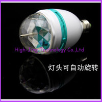 Wholesale RGB Full Color W E27 LED Bulb Crystal Auto Rotating Stage Effect DJ Lamp Light Bulb Stage for party