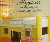 Wholesale sale retail kit of removable wall sticker decal english words decoration with selective colors and sizes