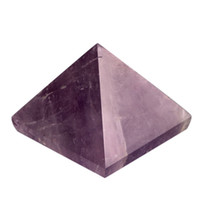 Wholesale Amethyst Engraved inch Pyramid stones carved healing reiki free pouch