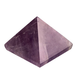 Wholesale Amethyst Rose quartz Red jasper Black obsidian Engraved inch Pyramid stones carved healing Stone reiki Crystal free pouch
