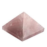 Quartz rose gravé pierres de pyramide de 1,5 pouce sculpté sachet de reiki libre de guérison