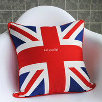Wholesale New Comfortable Soft Personalised UK British Flag Tapestry Pillow Cushion Cover
