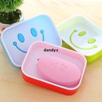 Wholesale Smiley shape Double Plastic Drain Soap box dandys