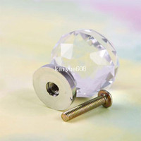 Wholesale New mm Crystal Cupboard Drawer Cabinet Knob Diamond Shape Pull Handle
