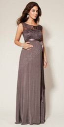 Wholesale 2014 Formal Elegant Sheath O Neck Straps Floor Length Maternity Evening Dresses Sexy Lace Prom Gowns black red color