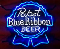Red beer ribbon - PABST BLUE RIBBON BEER BAR NEON LIGHT SIGN