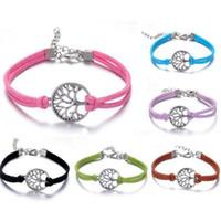 Charm Bracelets best life - new wish tree bracelet antique silver wish tree pendant Leather Bracelet Best Chosen Gift Personalized tree of life