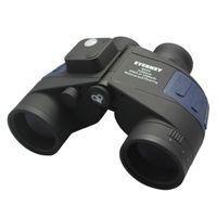 Wholesale Waterproof Blue x50 Marine Binoculars with Build in Range Finder amp Compass BaK Porro Prism Fully Multi coated