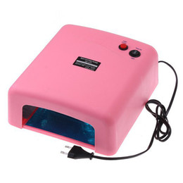 Wholesale Pink UV Lamp W V Gel Curing Nail Art EU Plug with nm UV Bulb Dropshipping