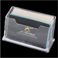 Wholesale Clear Plastic Business Name Card Holder Display Stands Shelf
