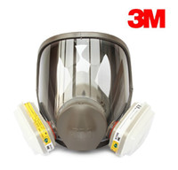 Cheap 3M 6800 +6002 full facepiece reusable respirator filter protection masks anti- Acid Gas seven set free shipping R82403