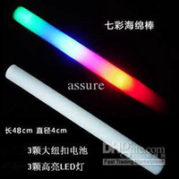 Wholesale LED foam Light up Stick Multi Color Flashing Blinking Glow Rock LED
