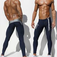 Pants Men Bootcut 1pcs mens AQUX brand swimwear swimsuits pants tight fashion hot sea black blue sport long sexy gym summer wholesale pants swim