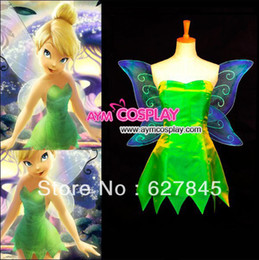 Wholesale On Sale Custom Made Tinker Bell Dress Cosplay Costumes For Fancy Dress Ball Perfect Cutting