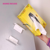 Wholesale Adjustable magnetic boxed towel rack magnetic carton storage rack refrigerator wall paper towel storage rack dandys